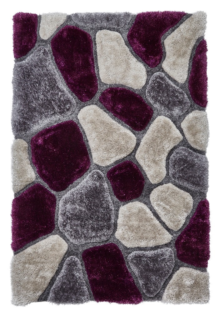Nobel House Pebbles 5858 Grey Purple Rug