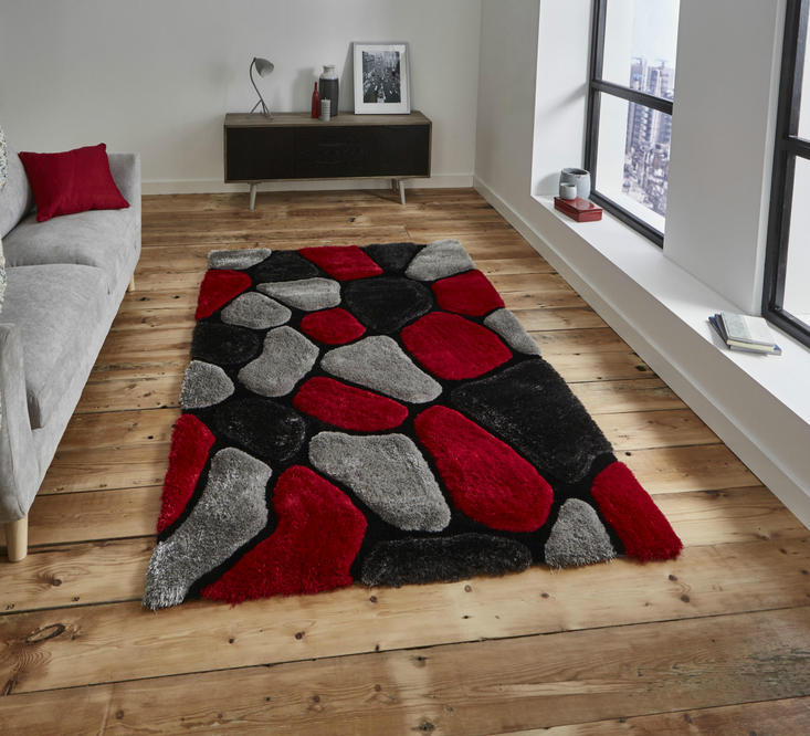 Nobel House Pebbles 5858 Grey Red Rug