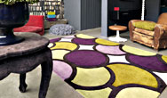 Harlequin Bubble/Facet Bubble Purple Green - HA10-006 Rug