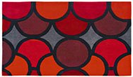 Harlequin Bubble/Facet Bubble Red - HA10-007 Rug