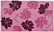 Harlequin Rose/Floral Scattered Floral Pink - HA10-042 Rug