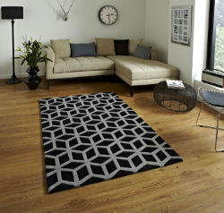 Hong Kong Funky 326 Black Grey Rug