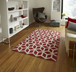 Hong Kong Funky 326 Red Beige Rug
