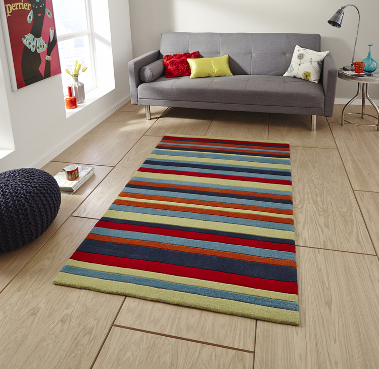 Hong Kong - Stripey HK2022 Multi Rug
