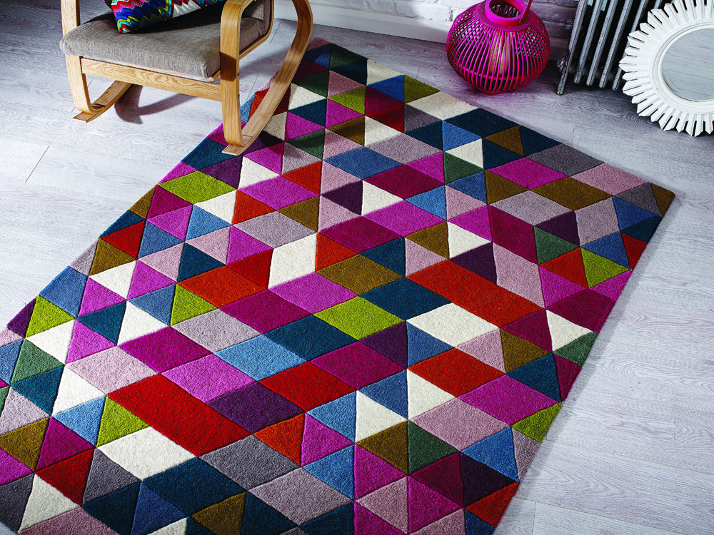 Illusion Geometry  Rug