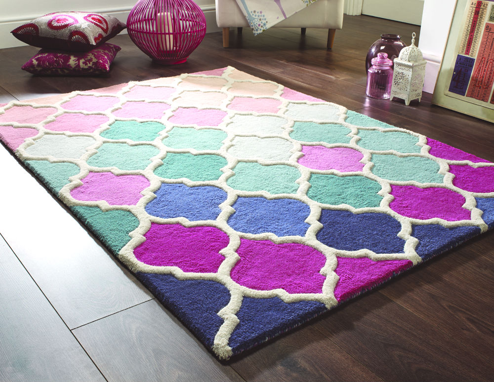 Illusion Rosella Pink Blue Rug