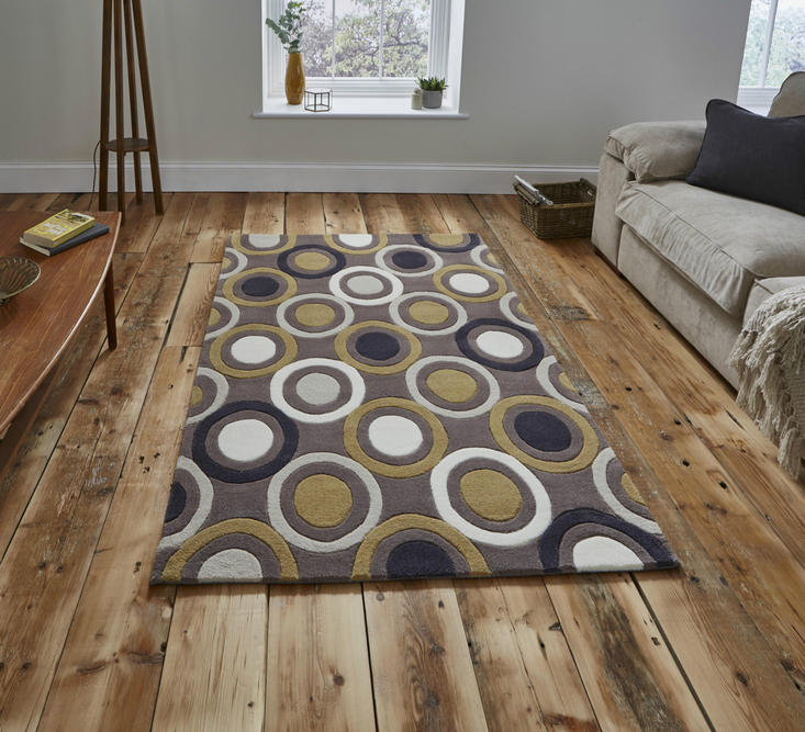 Hong Kong 9646 Light Brown Yellow Rug