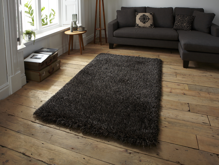 Monte Carlo Black Brown Rug