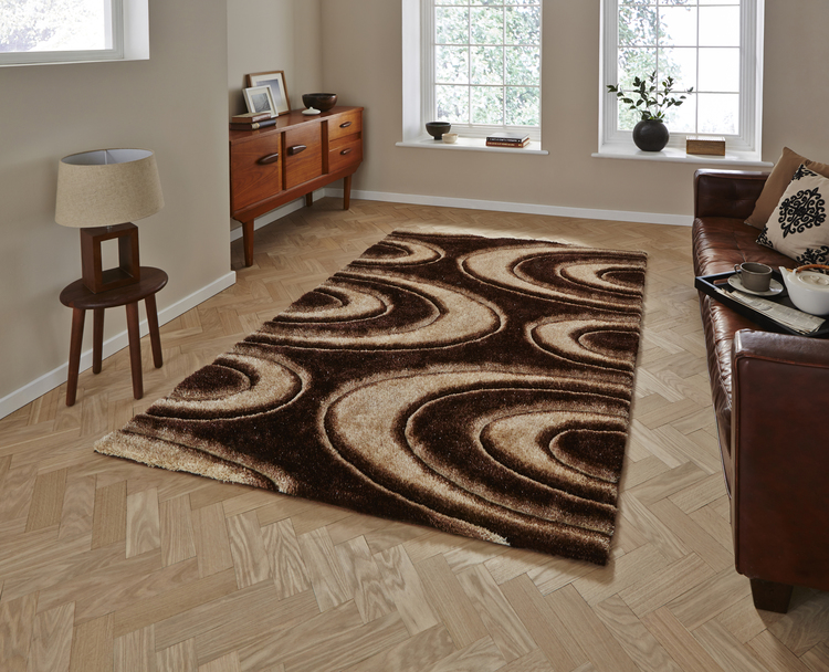 Shaggy - Noble House NH 1401 Brown Rug