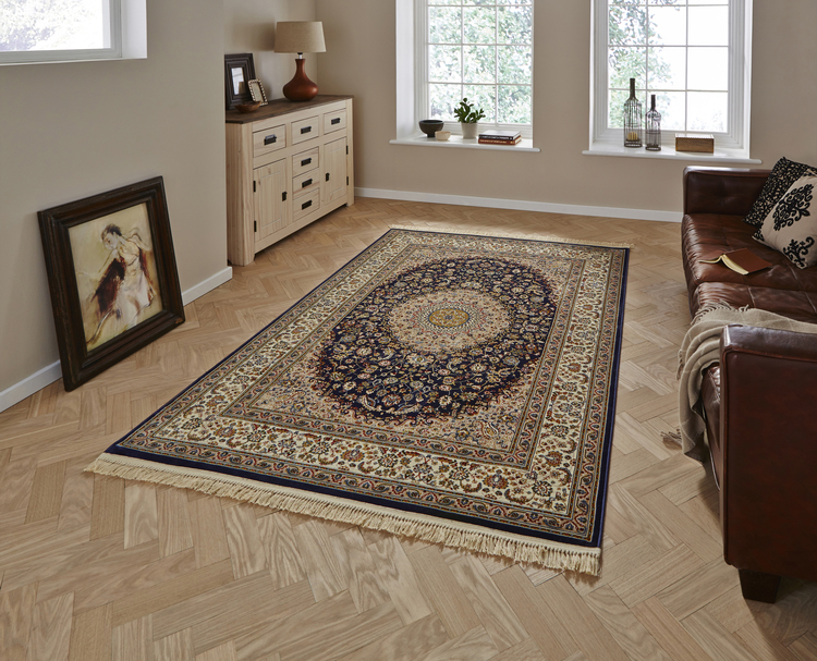 Regal 0227A Navy Rug