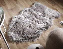 Faux Sheepskin Grey Rug