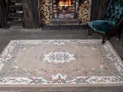 Lotus Aubusson Fawn Rug