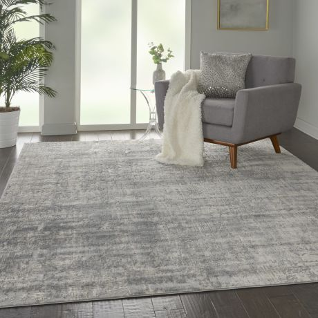 Rustic Textures RUS01 Ivory Silver Rug