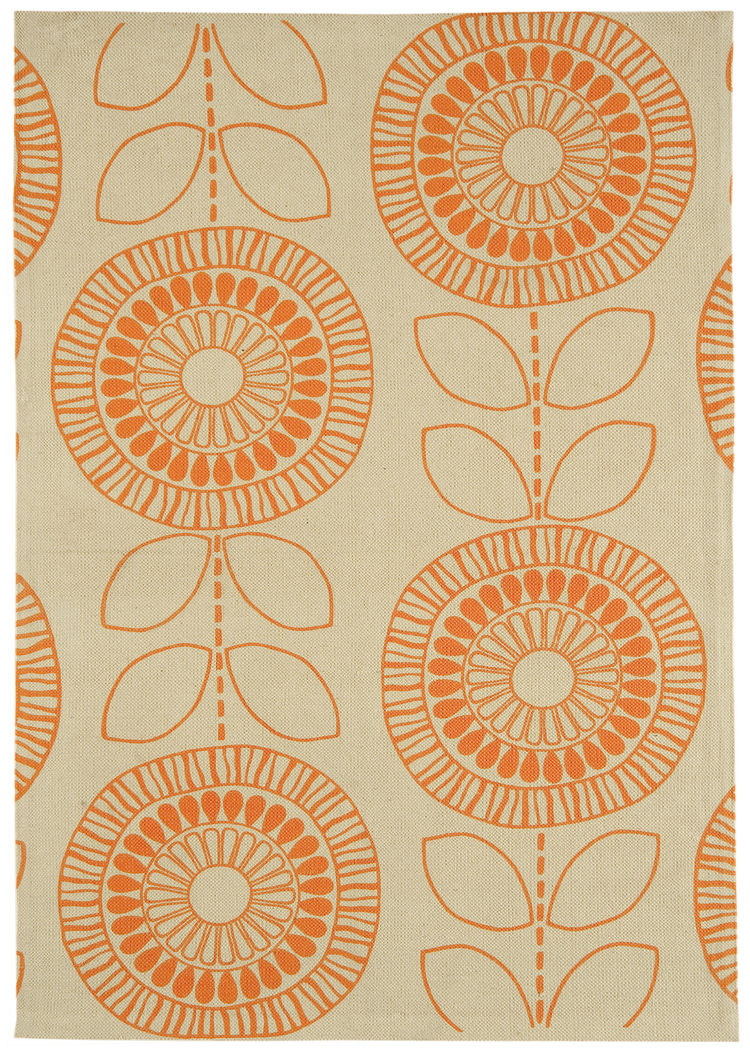 Onix Scandi Flower Orange Rug