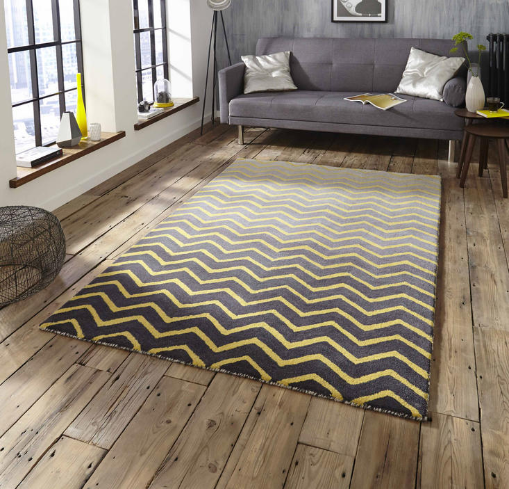 Spectrum SP22 Grey Yellow Rug