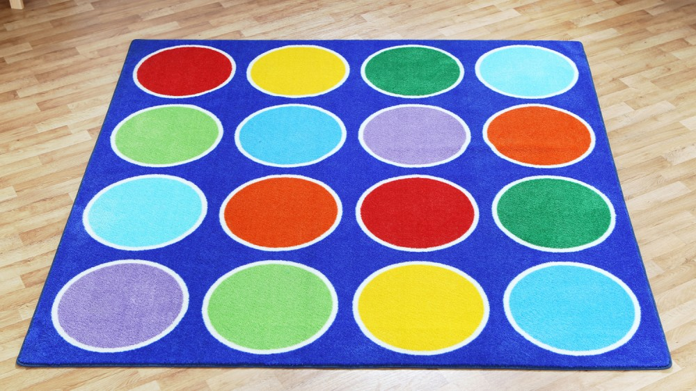 Placement Rugs Rainbow Circles Rug