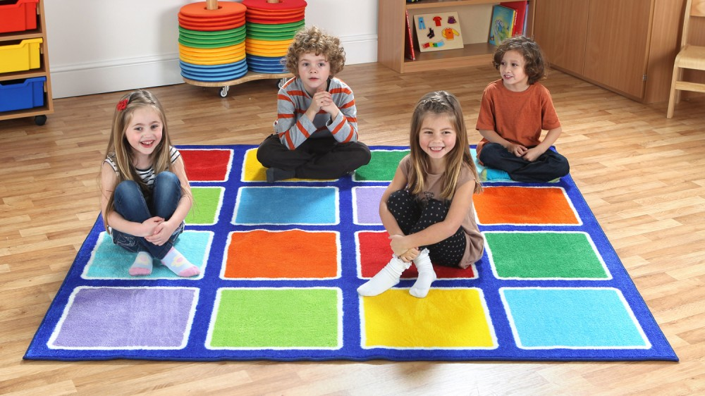 Placement Rugs Rainbow™ Square Placement Rug