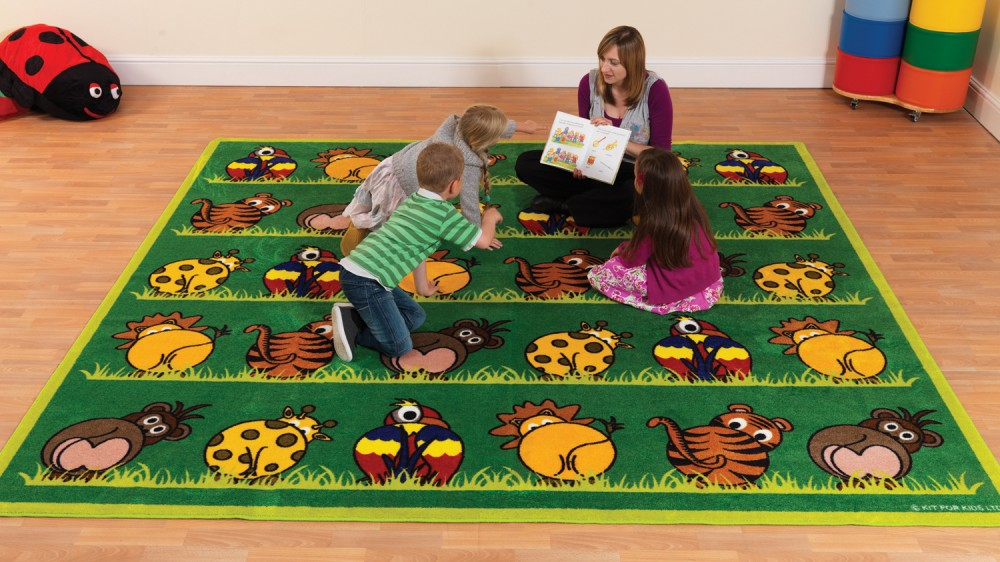 Placement Rugs Town & Country™ Zoo Animals Placement  Rug