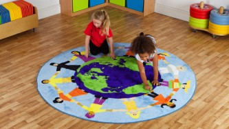 Placement Rugs Children of the World™ Multi-Cultural Rug