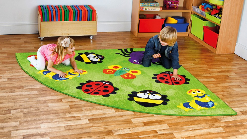 Placement Rugs Back to Nature™ Small Bug Corner Rug