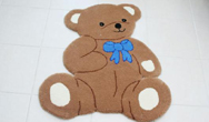 Nursery Characters TT BT Brown Rug