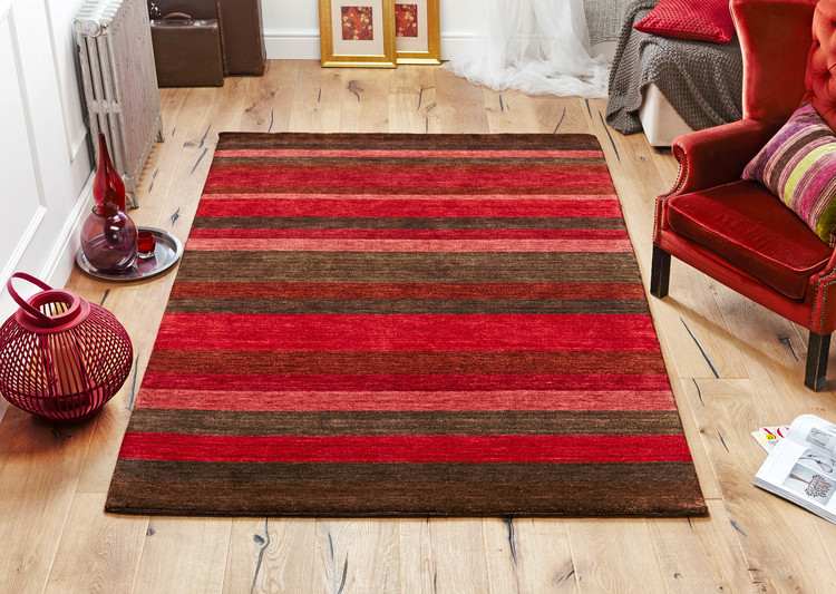 Winslow Stripes Red Rug