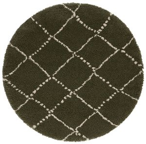 Allure Hash Olive Green Rug