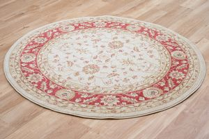 Ziegler 7709-Cream-Red Rug