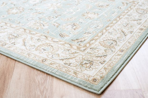 Ziegler 7709 light green cream rugs buy 7709 light green for Green and cream rugs