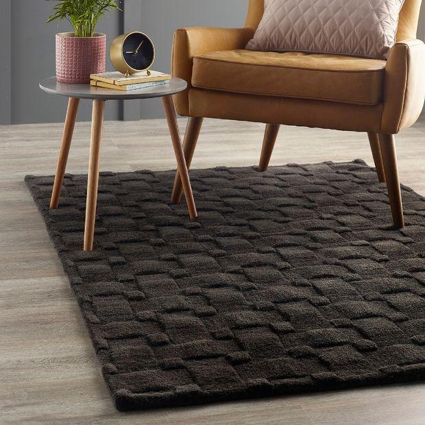 Basket Weave 3d Charcoal Rugs Buy Charcoal Rugs Online