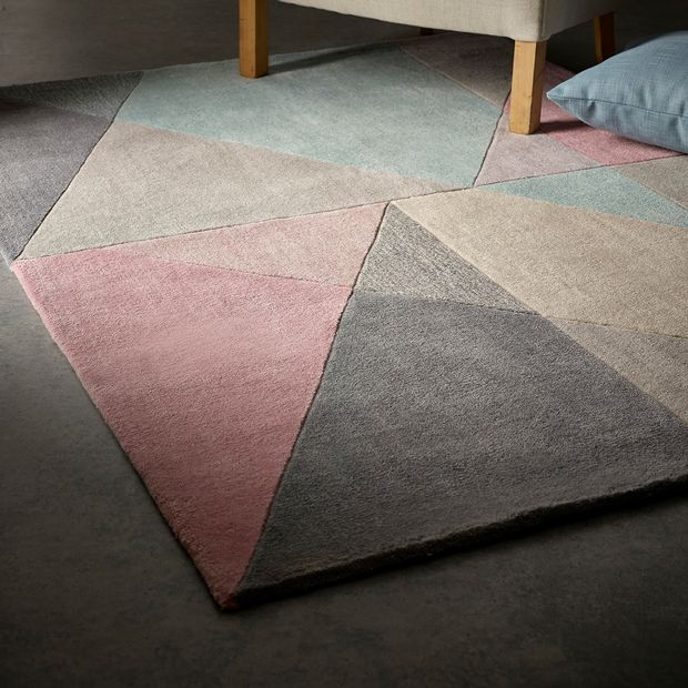 Design Matters Pink Grey Blue Rugs Buy Pink Grey Blue