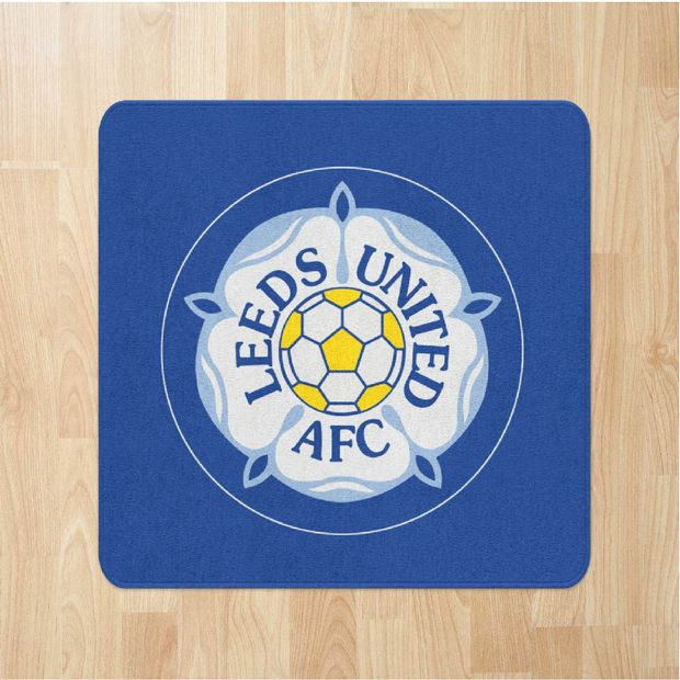 Football Crests Leeds United Yorkshire Rose Rugs