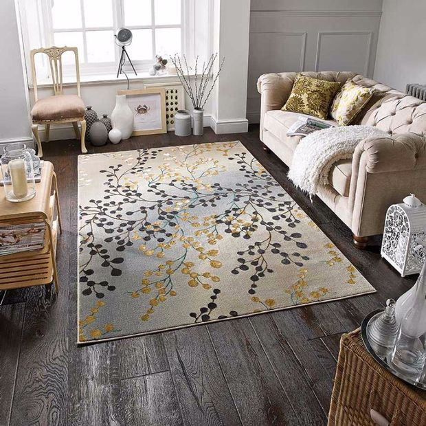 Jasmine 33 W Grey Gold Multi Rug