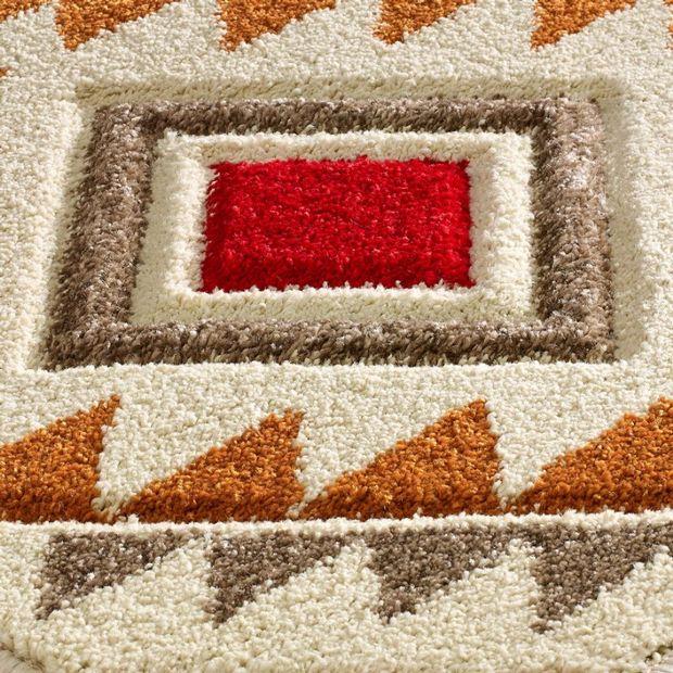 Portland 138 Q Cream Red Rugs