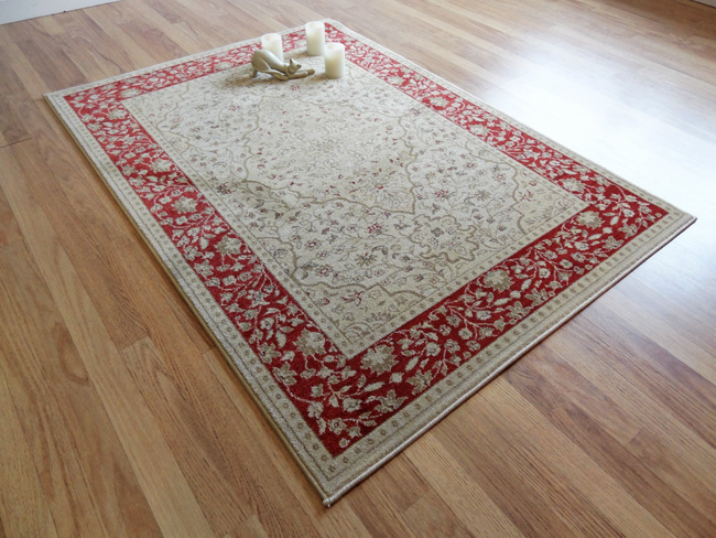 Ziegler 7776 cream red rugs buy 7776 cream red rugs for Cream and red rugs