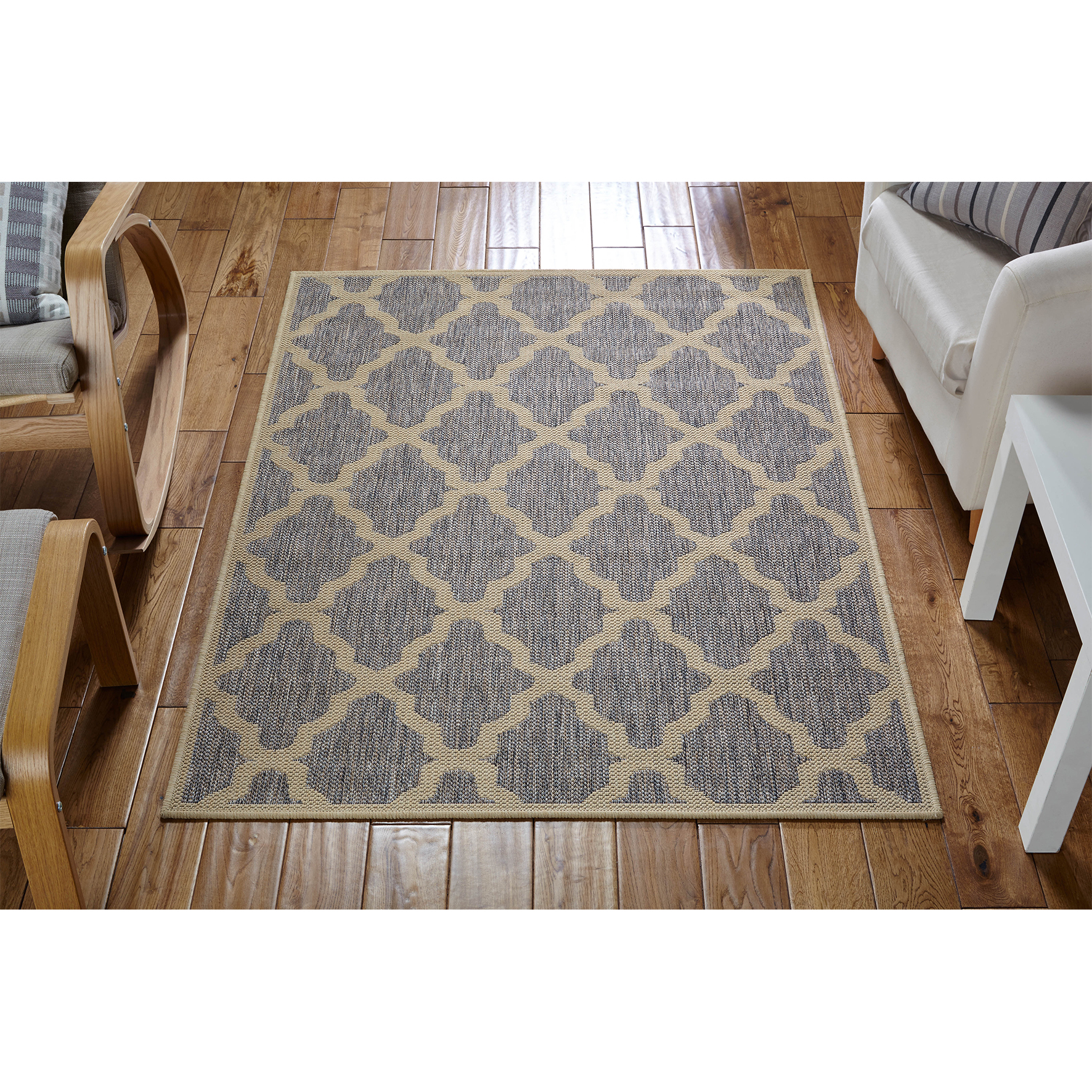 Black And White Rug Ebay Uk: Moda Flatweave Trellis Grey Rugs