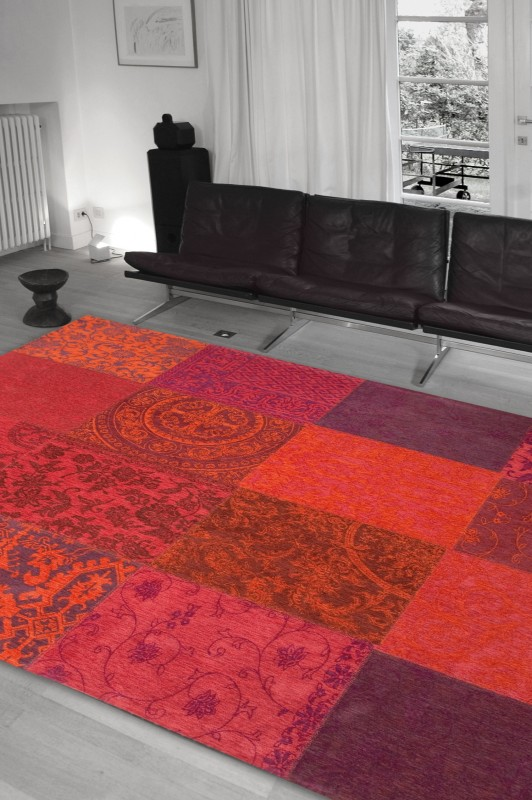 buy louis de poortere vintage 8103 orange purple rugs buy 8103 orange purple rugs online. Black Bedroom Furniture Sets. Home Design Ideas